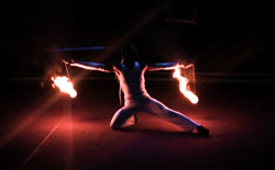fire poi, Chris Bennett - fire performer