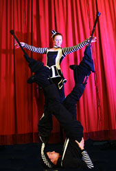 stilt walking performance
