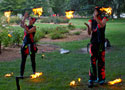Daytime fire performance, Canberra, ACT, Fire circus, Christmas entertainment