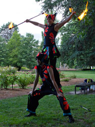 Acrobalance, Daytime fire performance, Canberra, ACT, Fire circus, Christmas entertainment