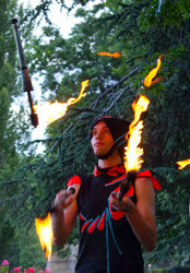 Luke Forrester, Juggling with fire, Daytime fire performance, Canberra, ACT, Fire circus, Christmas entertainment