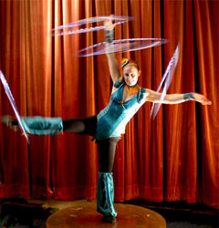 Eve Everard hula hoop dance circus entertainment agency