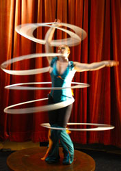 hula hoop girl Eve Everard, circus, act, perform, showcase, corporate entertainment, agency, talent