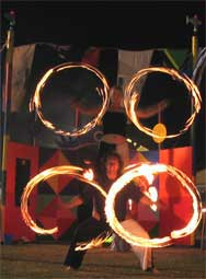 port fairy folk festival, will-o'-the-wisp fire circus